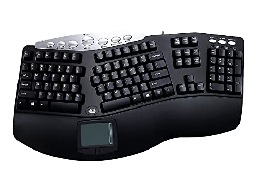 Adesso Tru-Form Pro PCK-308UB - Keyboard - PS2 - 105 keys - ergonomic - touchpad