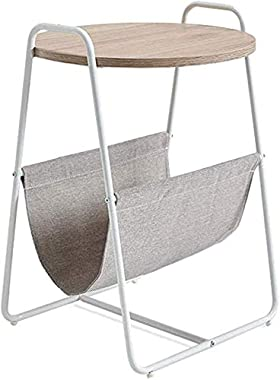 HTTXCJ Modern Family Round Coffee Table, Coffee Side Tea Coffee Table with Storage Bag for Home,Creative Living Room Furnitur