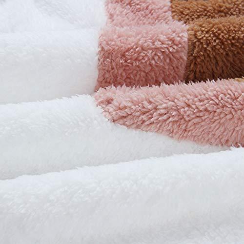 KOOSUFA Womens Teddy Fleece Jumper Sweatshirt Jacket Coat Warm Outerwear Zipper Long Sleeve Pullover Outwear Tops (Size L/UK 16-18, Style 3-White)