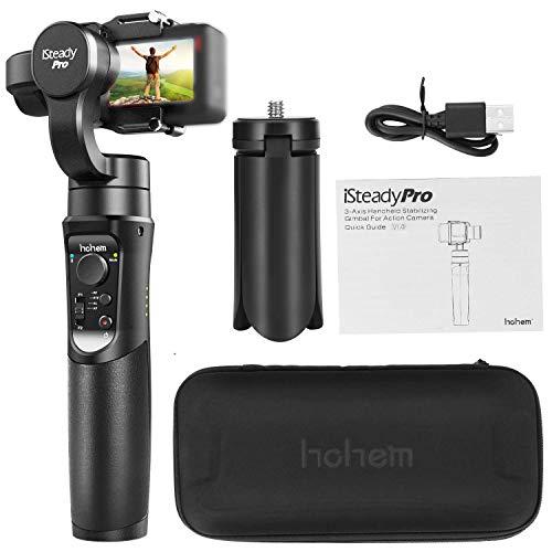 Estabilizador Gimbal Para Câmeras GoPro Hero 6/5/4/3 + / 3, Yi 4K, AEE, Sony RX0 e o SJCAM Entre Outras - iSteadyPro da Hohem