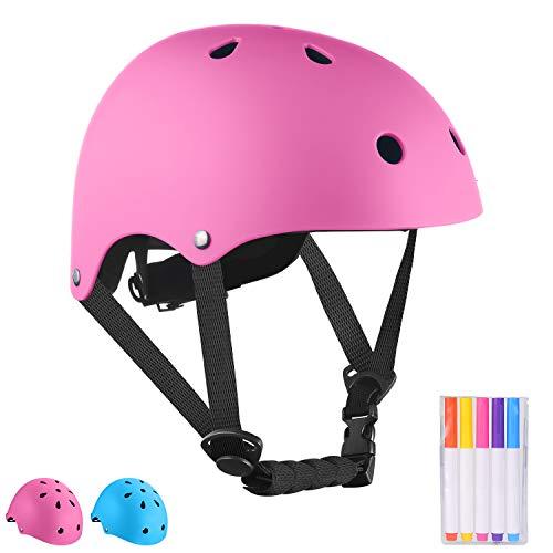 Nestling Kinderhelm Fahrradhelm Kinder Skaterhelm Verstellbar & Kinderhelm Wassersport Helm mit Pinselstifte,CE-Zertifizierung Schutzhelm,BMX Skateboard Fahrrad Scooter für Kinder Herren Damen Jungs
