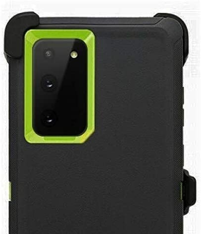 for Galaxy Note 20 Ultra 5G Case Full Protective Anti-Scratch Resistant Cover with Holster Belt Clip Stand Cover Case for Samsung Galaxy Note 20 Ultra 5G - Black Green