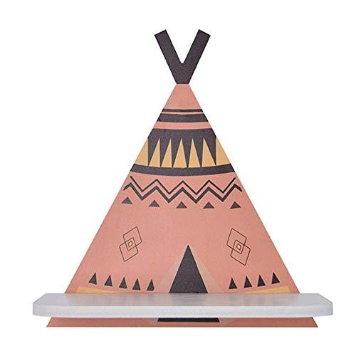 N-B Estante de Almacenamiento Triangular de Madera, Tienda Pintada, Estante de partición de Pared, decoración del hogar, Regalo de decoración
