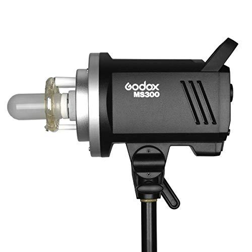 Godox MS300 Studio Strobe 300Ws 110V GN58 5600K Bowens Mount Monolight, Built-in Godox 2.4G Wireless System, 150W Modeling Lamp, Outstanding Output Stability, Anti-Preflash, 1/32 to 1/1 Steps Output