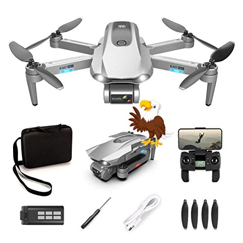 WXFXBKJ K60 Best GPS Drone with 2-Axis Gimbal 6K Dual Camera WiFi FPV Smart Follow Me Professional Brushless Motor Foldable RC Quadcopter (Color : Two Axis 6K cam)