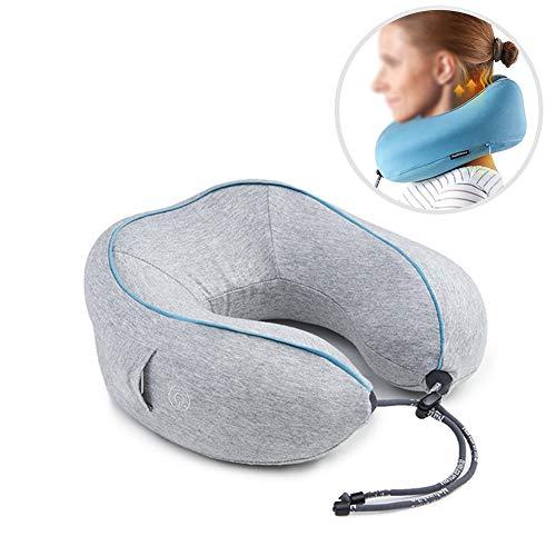 Cervical masajeador cuello hogar amasar cuello eléctrico almohada viaje siesta inteligente U tipo almohada de memoria,Gray,27x26x11cm