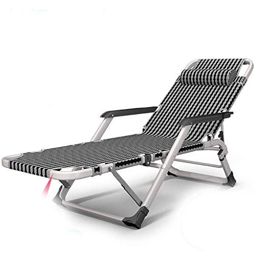 Alvnd Silla plegable de gravedad cero Sofá convertible Sofá cama plegable Silla Silla de silla, 5 posiciones Reclinador de recogida acolchado completo para 2 personas, marco mental con cubierta desmon