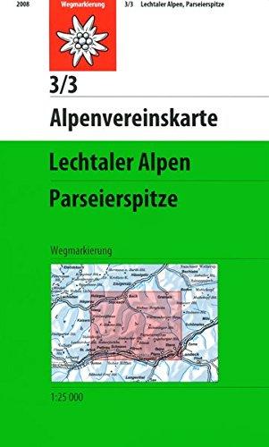 Lechtaler Alpen - Parseierspitze: Topographische Karte 1:25000 (Alpenvereinskarten)