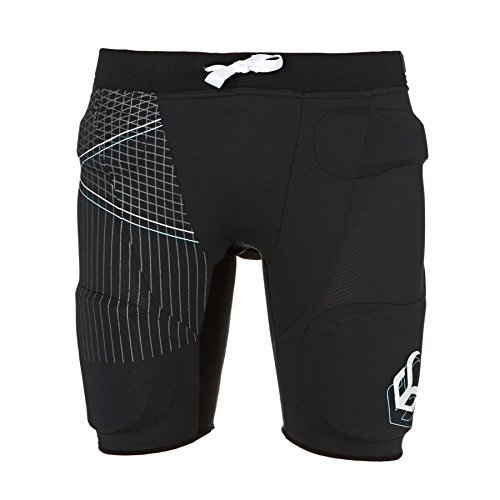 Demon Flex Force Pro Pantaloncini da Ciclismo da Donna, Shorts Black XL
