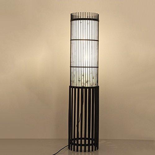 Tradicional de la Rota de la Armadura de Mimbre Enrejado de Mimbre de la lámpara de pie Decorativa luz e27 * 2 Lámparas de pie (Color : D-130 * 30cm)