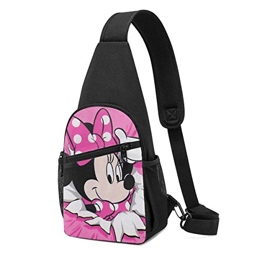 Boweike Sling Backpack Casual Minnie Mouse Crossbody Daypack Shoulder Bag Chest Bag Rucksack