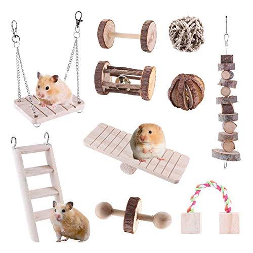 Bebester Lot de 10 jouets à mâcher pour hamster,...