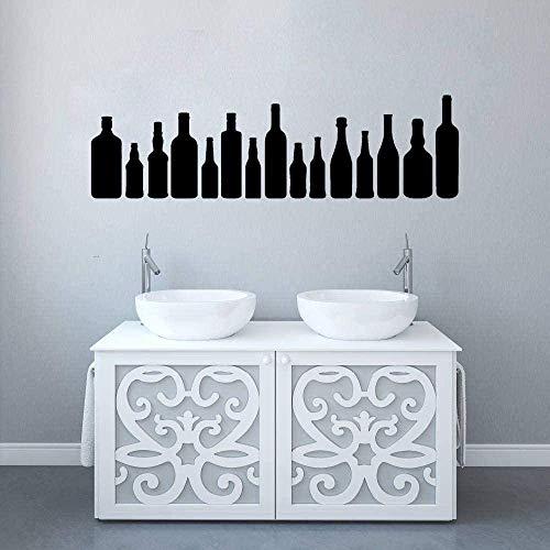 Etiqueta de la pared vinilo extraíble etiqueta de la pared etiqueta de la pared diferente botella de vino silueta etiqueta de la pared etiqueta de la pared 42X28cm