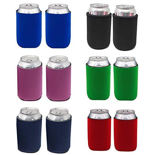 Enfriador de Latas, 12PCS Multicolor Neopreno Cerveza en Refrigeradores, Sostenedor de la Bebida del Aislador de Las Botellas del Neopreno para Barbacoas Bodas Fiestas