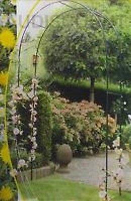 arceau tunnel arche gloriette 2,4m decorative de jardin pour roses et fleurs grimpantes