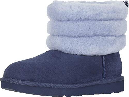 UGG Kids Girl's Fluff Mini Quilted (Little Kid/Big Kid) Navy Multi 2 Little Kid M