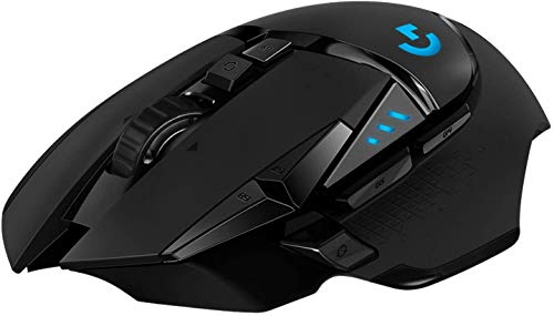 Logitech G502 LIGHTSPEED kabellose Gaming-Maus, HERO 16000 DPI Sensor, Wireless Verbindung, USB-Anschluss, RGB-Beleuchtung, Gewichtstuning, POWERPLAY-kompatibel, PC/Mac, Schwarz - Deutsche Verpackung