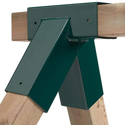 Schaukel-Verbinder für 9x9 cm Kantholz zum Selberbauen Einer Schaukel