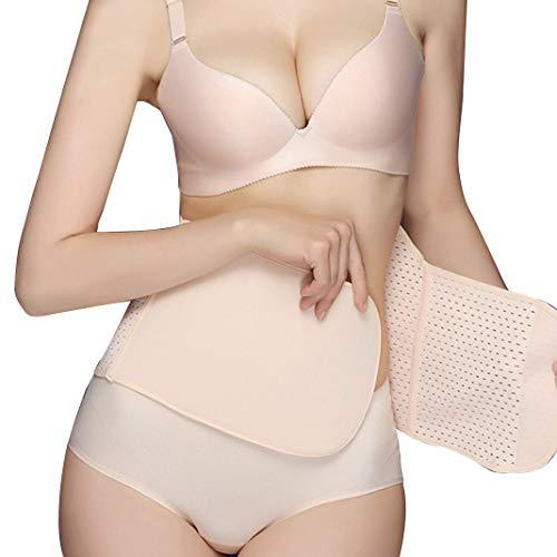KuKiMa Body Shaper Bauchgurt nach Geburt Postpartale Bauchband Schwangerschaft Bauch High Elastischen Korsett Postpartum Support Gürtel Girdle für Frauen nach der Geburt, Beige