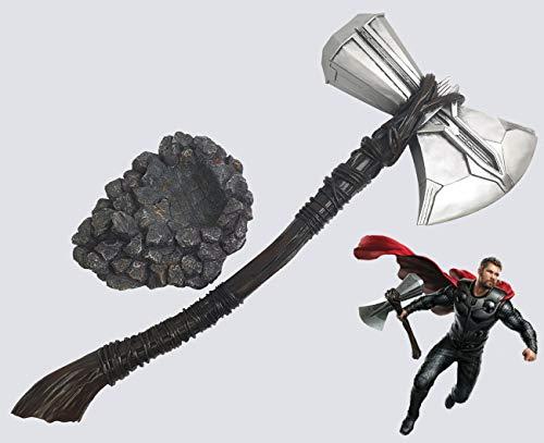 Il Nuovo Mondo Stormbreaker Thors Axt mit Sockel Replik im Maßstab 1: 1 in Harz Avengers Thor