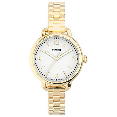 Timex Women's Standard Demi 30mm Quartz Stainless Steel Strap, Silver, 10 Casual Watch (Model: TW2U60200VQ)