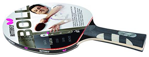 Butterfly Timo Boll Platinum - Pala de Ping Pong (Timo Boll), Color Rojo