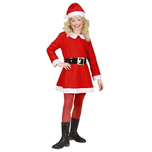 Widmann Costume Madame de Noël en flanelle, robe, ceinture et chapeau