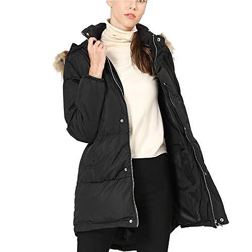 Initial dames winterjas met capuchon bontkraag katoenen mantel lange koude winterjas katoenen jas