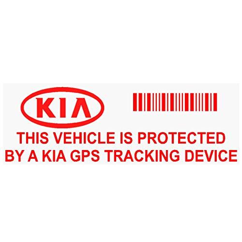 5x ppkiagpsred GPS rojo dispositivo de seguimiento de seguridad ventana pegatinas 87x 30mm-car, Van alarma Tracker