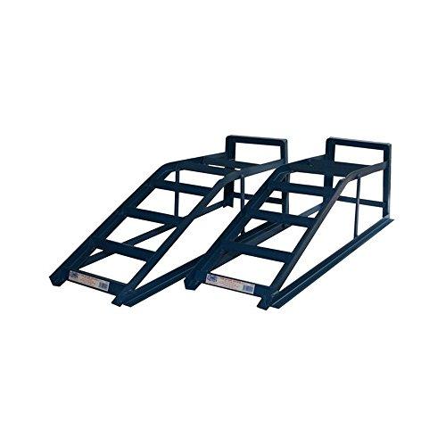 Cougar Auffahrrampe, Auffahrbock, breite Auffahrrampe zur Wartung von Autos, geeignet für bis zu 2,5 Tonnen, 2 Stück
