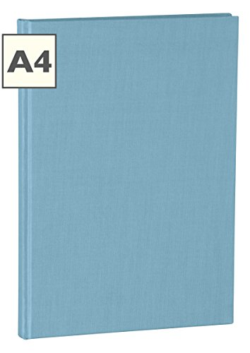 Semikolon (351238) Notizbuch Classic A4 blanko ciel (hell-blau) - Buchleinenbezug - 160 Seiten mit cremeweißem 100g/m²- Papier - Lesezeichen