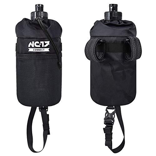 NC-17 Connect Storage Bag | Stem Bag, Lenker-/Vorbautasche | Fahrradtasche zur Aufbewahrung von Trinkflasche, Verpflegung, Kamera usw. | Nylon | Schwarz