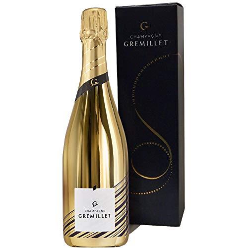 Champagner Gremillet Blanc 100% Pinot Noir in der Goldflasche (0,75 l)