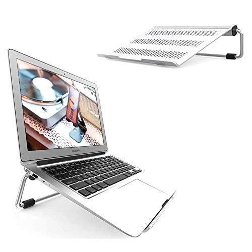 Laptop Stand, Portable Laptop Riser - Adjustable Foldable Ergonomic Desktop Laptop Cooling Holder Desk for MacBook Pro, MacBook Air, Dell XPS, HP, Lenovo, 10' ~ 17.3' Notebooks - Silver