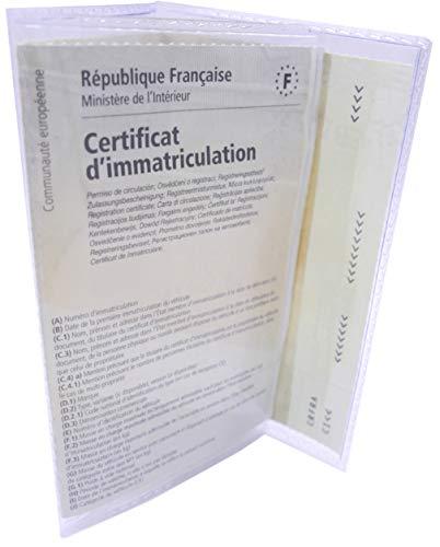Etui carte grise PVC transparent - Protège votre carte grise