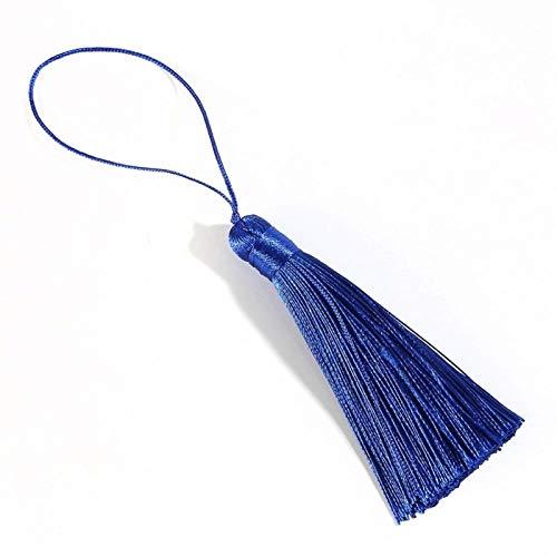 DAHDXD 16cm Silk Tassel Fringe Curtain Brush DIY Craft Tassel Fringe Trim For Curtains DIY Wedding Home Decor Accessor (Color : Royal blue, Size : 1PC)