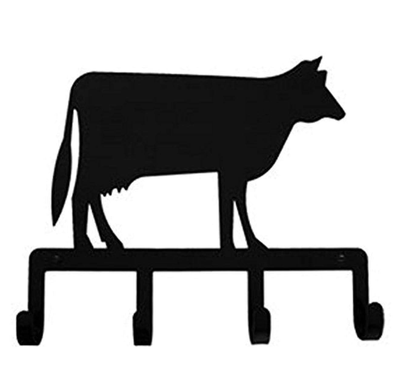 Iron Cow Key Rack - Jewelry Holder - Pet Leash Hanger - Heavy Duty Metal Keychain Car Key Holder, Key Hooks, Key Hanger, Key Organizers