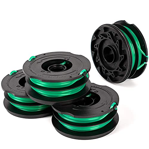 """Thten String Trimmer Spools Replacement for Black Decker GH1100 GH1000 GH2000 Weed Eater DF-080 Replacement Spool Line Refills Dual Line Edger Parts 30ft 0.080"""" Auto-Feed Spool (4 Pack spools)"""