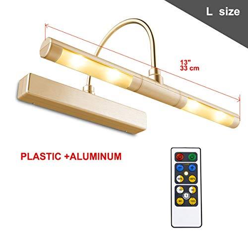 HONWELL Luz de Pared Remota/Luz de Espejo/Luz de Pantalla, Alimentada por Batería AA, Atenuador de Brazo Oscilante de 180 ° Para Iluminación Interior