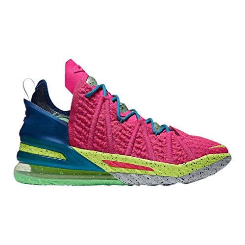 Nike Herrenschuhe Lebron 18 Los Angeles by Night DB8148-600, (Pink Prime/Blue Void/Green Abyss/Multi-color), 45 EU
