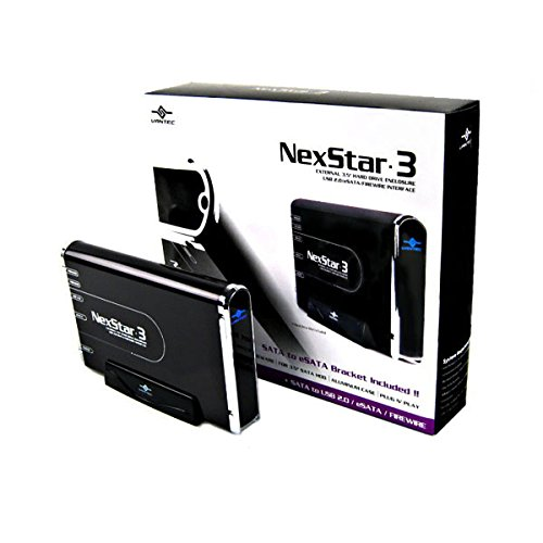 Vantec NexStar 3 NST-360UFS-BK 3.5-Inch SATA to USB 2.0/eSATA/1394a External Hard Drive Enclosure (Onyx Black)