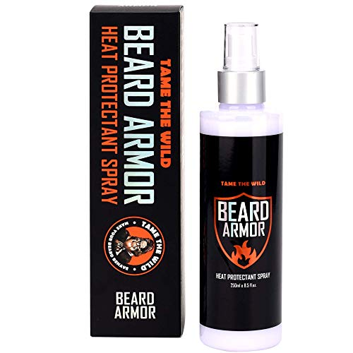 Tame's Hair and Beard Armor - Heat Protector Spray - Hair and Beard Straightener Heat Shield - Argan Oil Heat Protectant Spray For Hair and Beards - 8.5FL OZ