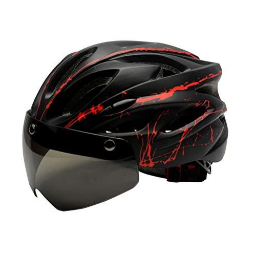 Casco de bicicleta desmontable magnético gafas visera montaña y carretera Bicicletas cascos ajustables adultos ciclismo cascos
