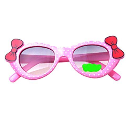 Homyl Bowknot Óculos de sol estilo desenho animado para atividades ao ar livre, lindos óculos para bebês e meninas crianças