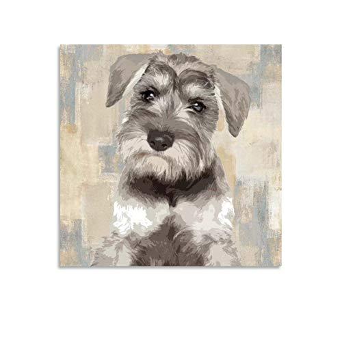 xiaochouyu Póster en miniatura de Schnauzer con diseño de perros Schnauzers y arte de pared, diseño de perro Schnauzer, 30 x 30 cm