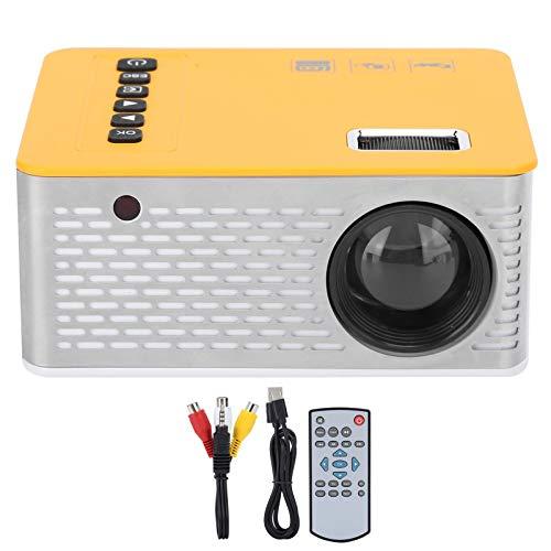 Mini proiettore LED, Home Cinema Theater LED portatile con dimensioni del proiettore 15-110 pollici, supporto per connessione cablata e schermo per telefono cellulare, supporto USB AV memoria audio