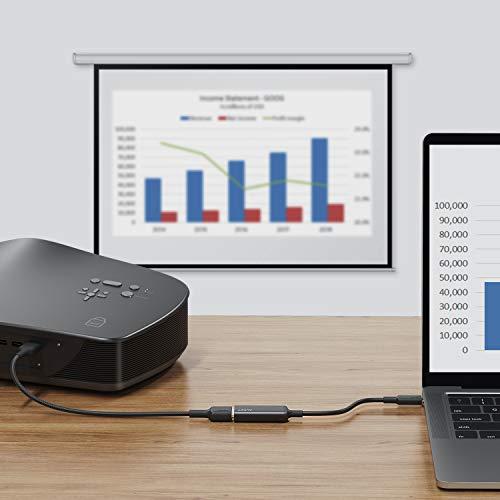 AUKEY USB C zu HDMI Adapter 4K Typ C zu HDMI Adapter Thunderbolt 3 Kompatibel mit MacBook Pro/Air 2019/2018, iPad Pro 2018, Samsung S10/S9/S8, Huawei P30/P20, Surface Book 2, Dell XPS und Mehr