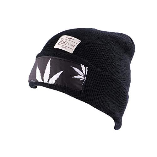 JBB COUTURE Bonnet Noir avec impréssion - Mixte