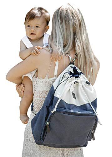 Petit Amour Baby Wickeltasche Wickelrucksack Freya Buggy Tasche Stroller Organizer (one, blue)