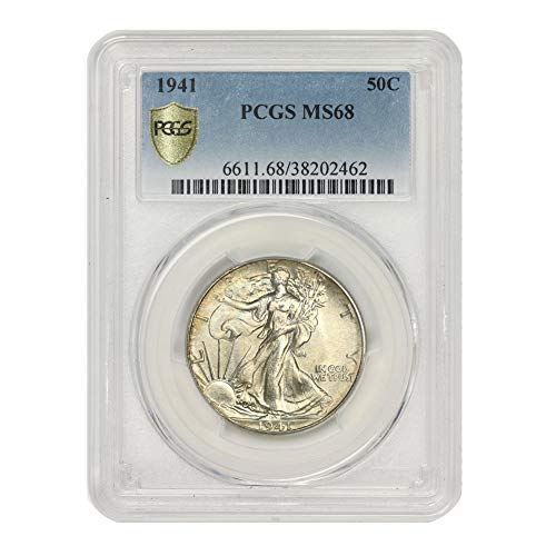1941 American Silver Walking Liberty Half Dollar MS-68 by CoinFolio $0.50 MS68 PCGS